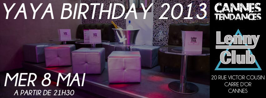 Yaya Birthday At Lenny Club Mer 8 Mai