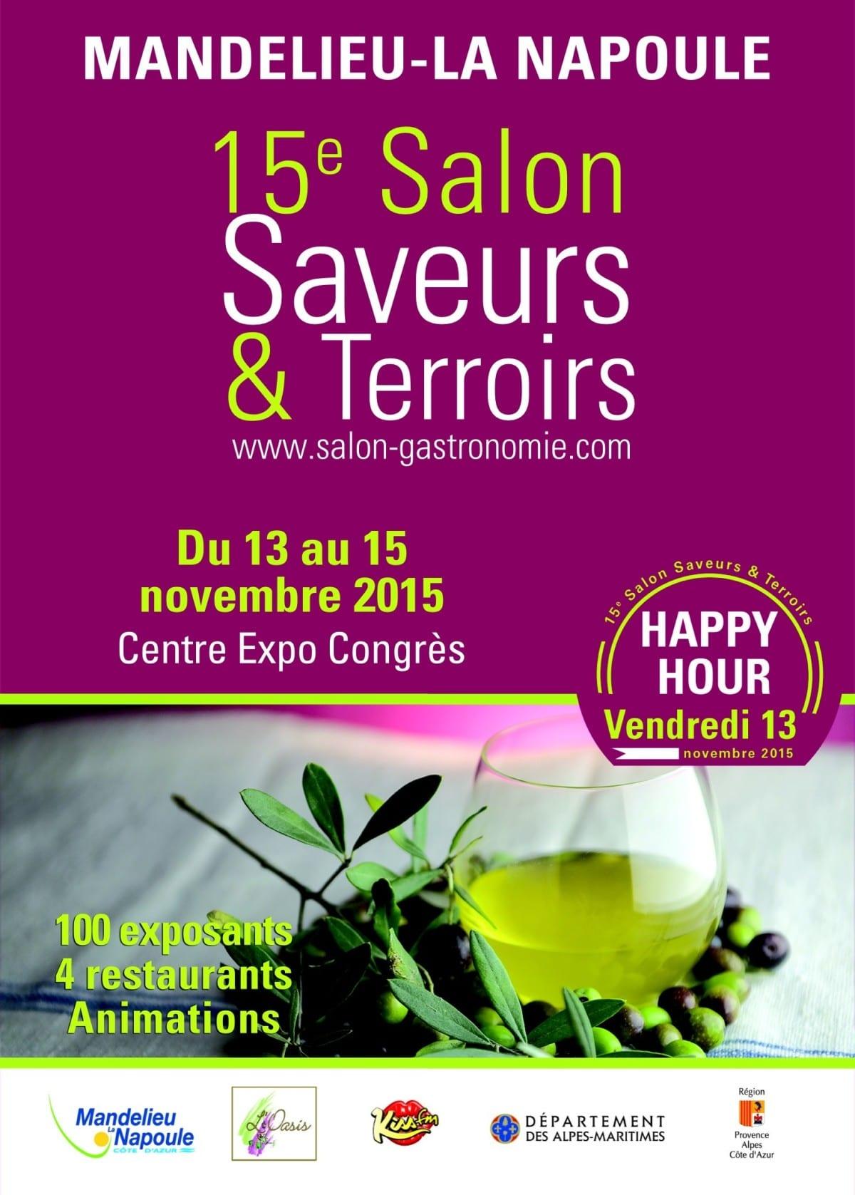Salon saveurs et terroirs mandelieu du 13 au 15 11 for Salon saveurs