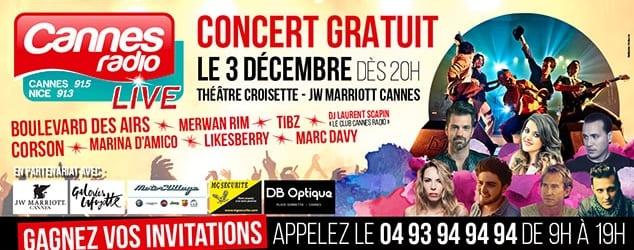 concert live gratuit cannes radio