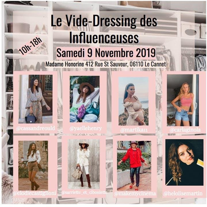 vide dressing influenceuses cannes